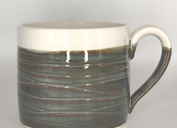 Blue Rutile Wavy Mug