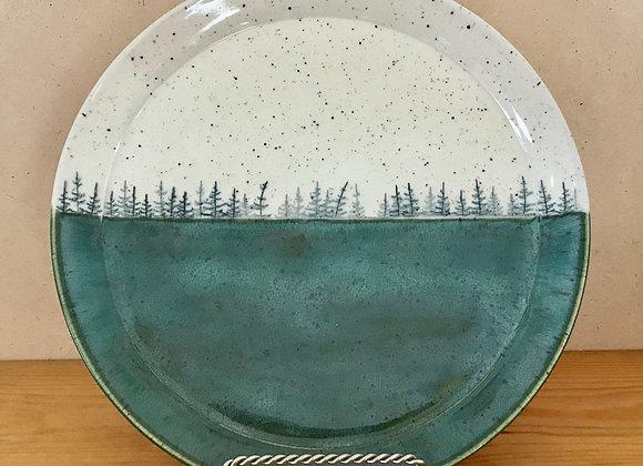 Green Field Landscape Dinner Plate
