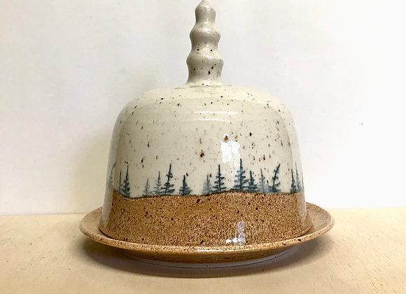 Autumn Landscape Butter Dish