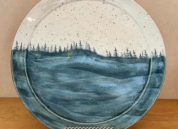 Summer Lake Waves Landscape Platter