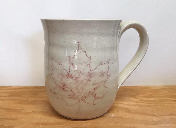 Hand-Printed Maple Leaf Mug