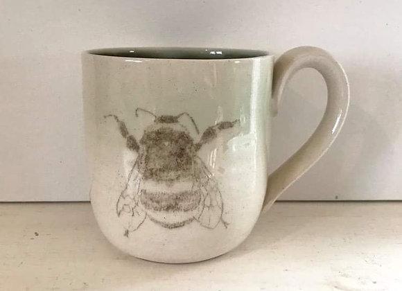 Hand-printed Bee Mug