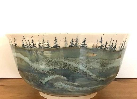 Large Spring Waves Landscape Bowl