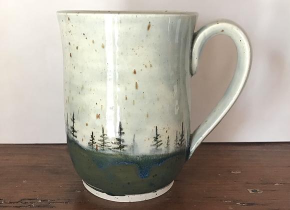 Sky Landscape Mug (Peacock Blue + Cobaltic Sea)