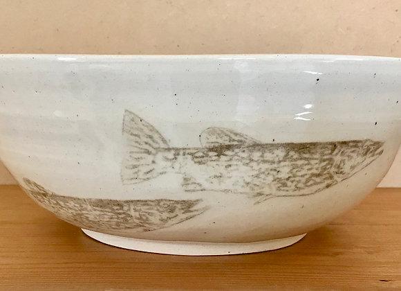 Large Fish Serving Bowl