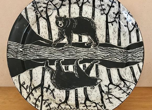 Sgraffito Bear Platter