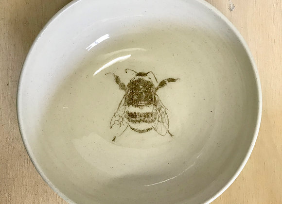 Hand-Printed Bumblebee Bowl
