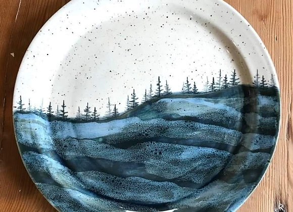 Deep Lake Waves Landscape Dinner Plate (Large)