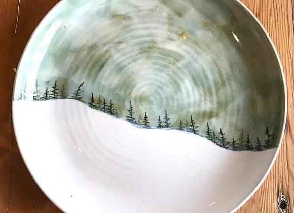 Winter Storm Landscape Platter