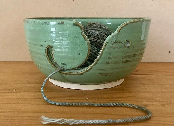 Teal Green Yarn Bowl