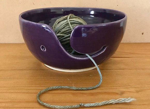 Dark Purple Yarn Bowl