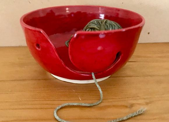 Cherry Red Yarn Bowl