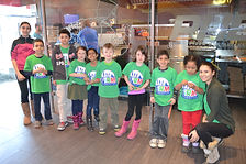 March Break Campers enjoy making their own pizza at Pizzahut