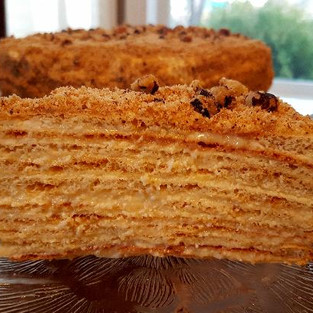 Cake 'Napoleon' (cottage cheese, dietary).
