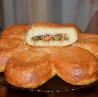 Пирог с капустой 'Цветок'.