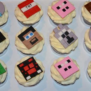 Cupcakes 'Minecraft'.