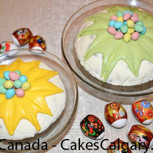 Easter Cottage cheese pie with candied fruit.