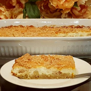 Cottage Cheese Cake with Crispy Streysel.