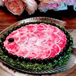 Salad 'Salmon under a fur coat'.