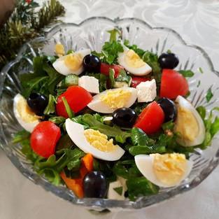 Salad with arugula.