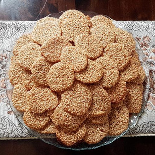 Sesame biscuits.