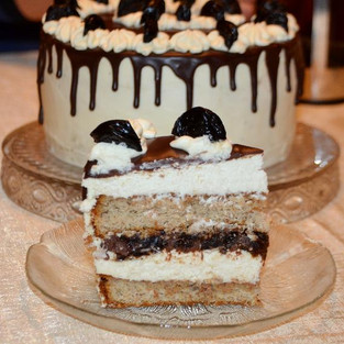 Cake 'Prunes in chocolate'.
