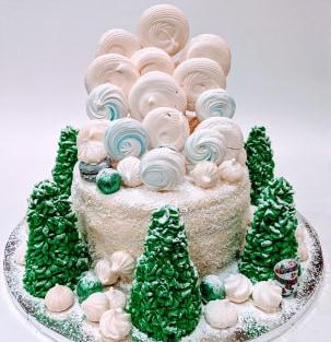 Cake 'Winter Forest'.