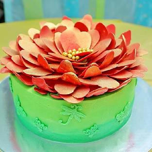Cake 'Scarlet Flower'.