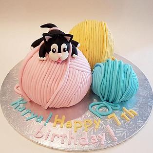 Cake 'Kitten in balls' (gluten free).