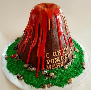 Cake 'Volcano'.