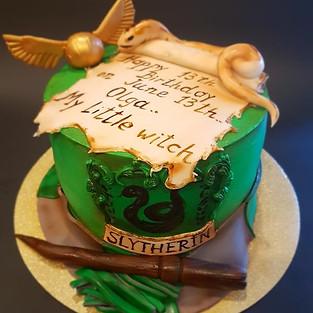 Slytherin cake.