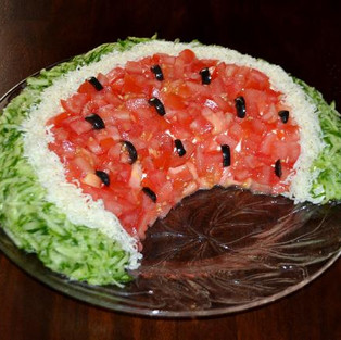 Salad 'Watermelon slice'.