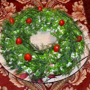 Salad 'Wreath for Christmas.'