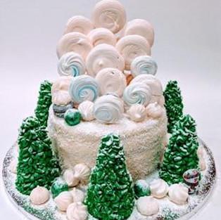 Торт 'Зимний лес'.