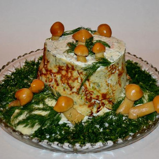 Cake-salad 'Rotten tree stump.'