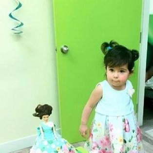 Торт-кукла и его маленькая хозяйка :)