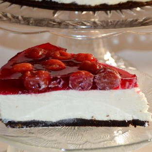 Cherry cheesecake.