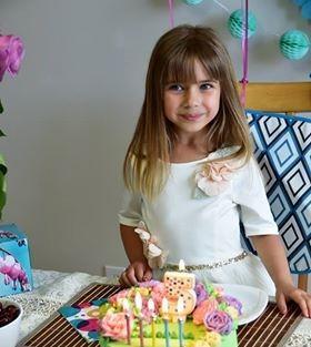 Нежный торт с цветами для красотки-именинницы.