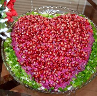Salad 'Pomegranate heart.'