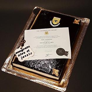 Diploma cake.