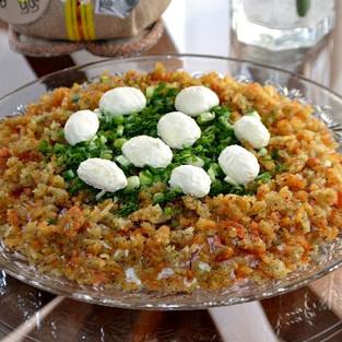Salad 'Capercaillie nest'.