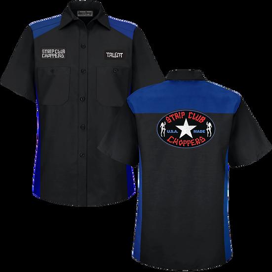 Women's SCC Black/Blue Mechanic-Style Shop Shirt