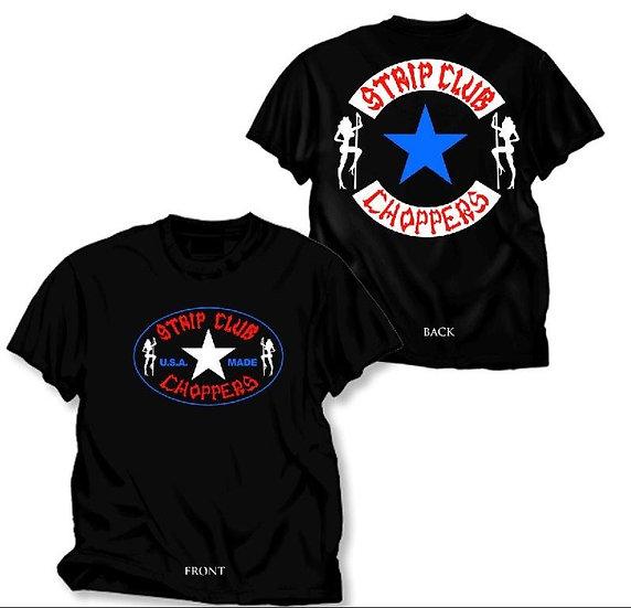 Men's SCC Short Sleeve T-Shirt Red,White, & Blue