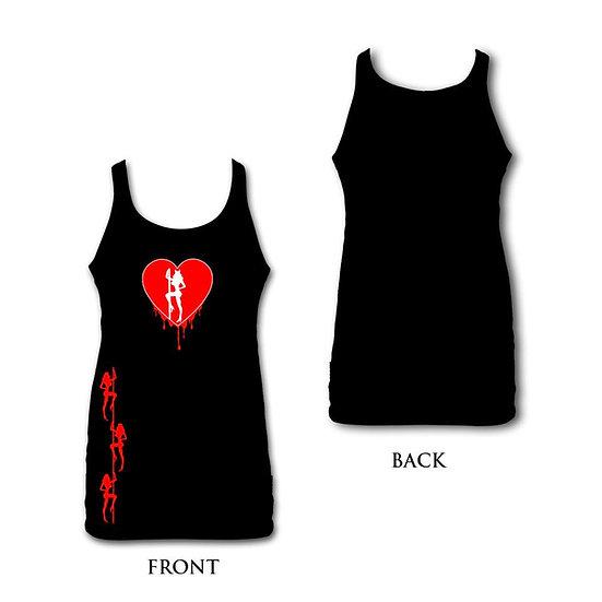 Women's Black/Red Heart SCC Tank