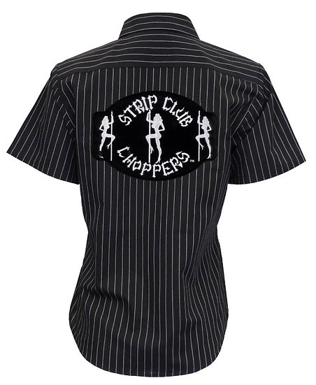 Women's SCC Pinstripe Mechanic-Style Shop Shirt