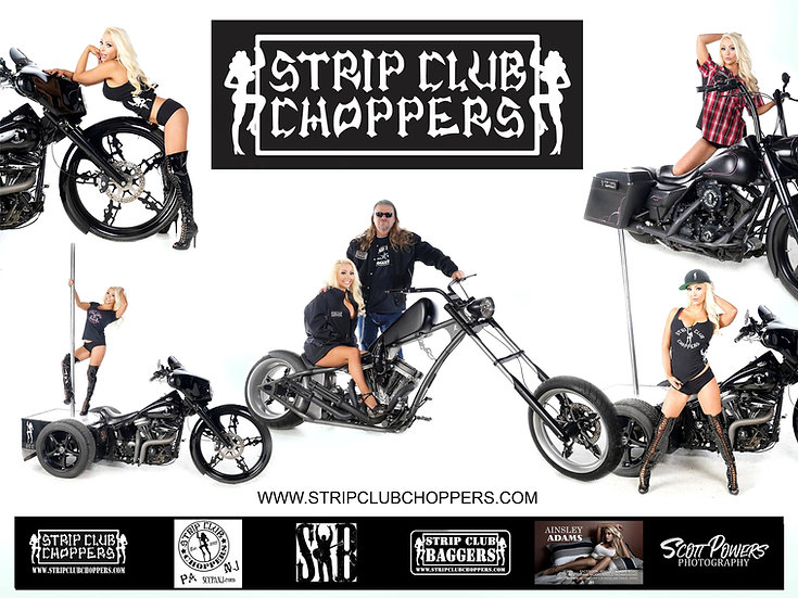 Autographed Strip Club Choppers Poster