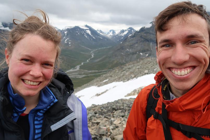 After hiking up Galdhøpiggen