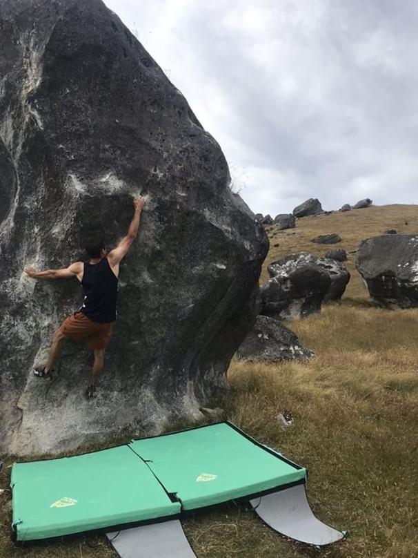 Bouldering at Flock Hill
