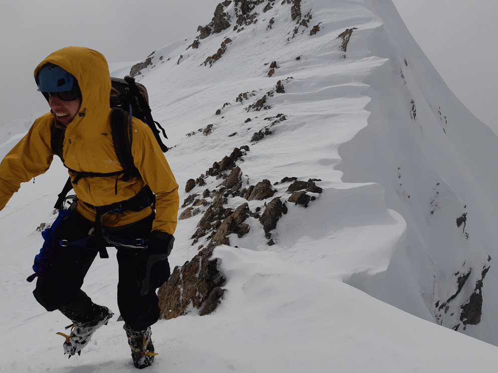 Joel Balmer in The Col to Nowhere