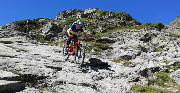 Technical mountain bike passage!